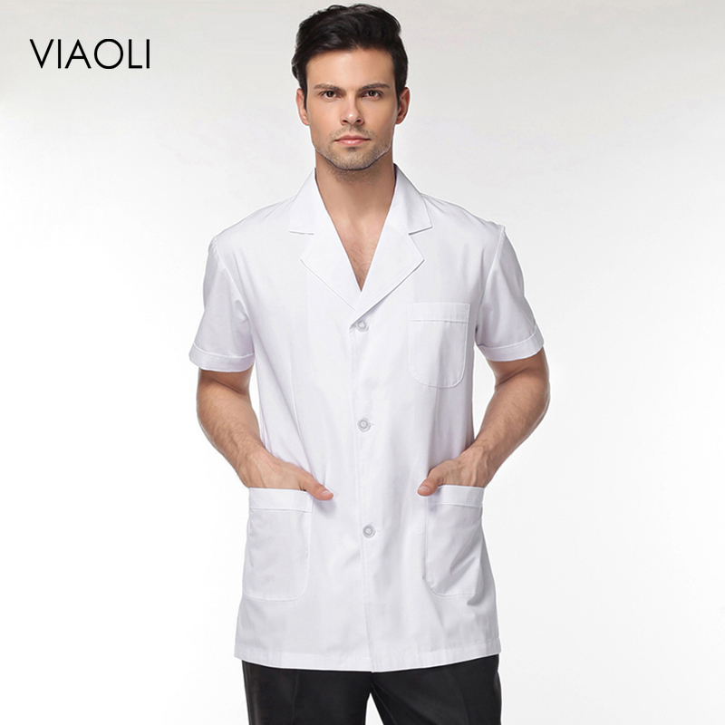 VIAOL Men And Women Doctors Uniforms Pharmacy Lab Coat Medical Clothing New High Quality Medical Clothing Dentist Shirts Jackets
