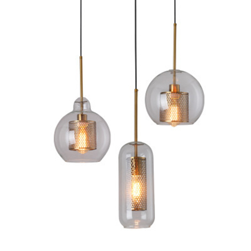 Loft Modern Pendant Light Glass Ball Hanging Lamp Kitchen Light Fixture Dining Hanglamp Living Room Luminaire
