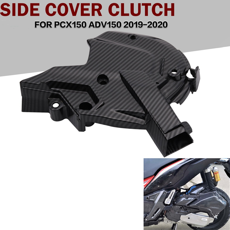 for Honda ADV150 PCX150 2019-2020 Motorcycles Carbon Fiber Engine Cover Protection Case Left Engine Box Front Cover