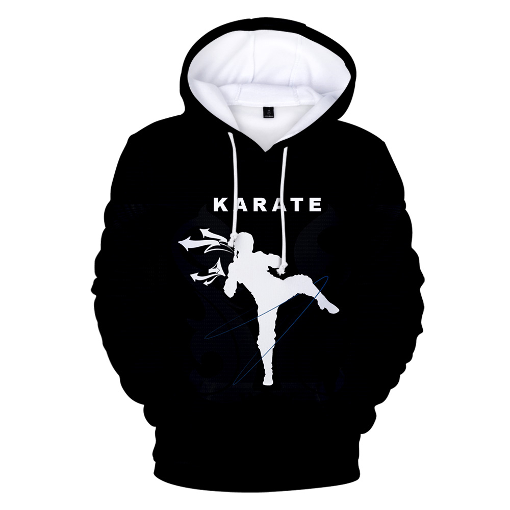 3D Hoodies Print Kyokushin Hoodie Men Sweatshirt Women Harajuku Kids Hooded Casual Black Kyokushin Autumn 3D Hoodie Pullovers