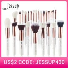 Makeup-Brushes-Set Blushes Hair-Foundation-Powder Jessup Pearl Professional Natural 6-25pcs