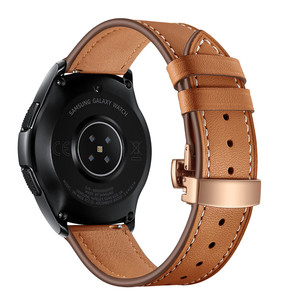 Image 3 - 20MM Replaceable Band for Garmin Vivoactive 3/Vivomove HR Bracelet Leather Strap for Samsung Galaxy Watch 3 41mm/42mm/Active 2 1