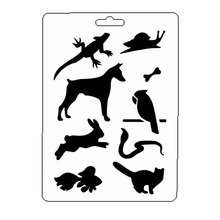 Rabbit Animal Stencil Reusable Scrapbooking Stamping Embossing Paper Card Drawing Template Decor Crafts Bullet Journal Stencil butterfly reusable stencil for scrapbooking stamping embossing paper card drawing template stencil crafts bullet journal stencil