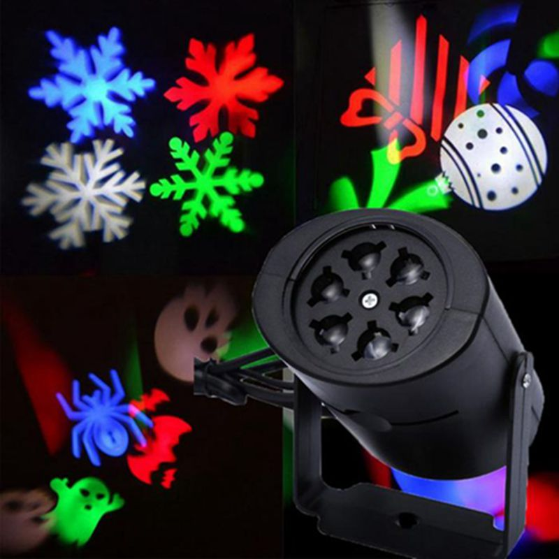 Christmas Projector Light Snowflakes Stars Patterns Outdoor Garden Home Bedroom Halloween Xmas Decorative Lights With Projection