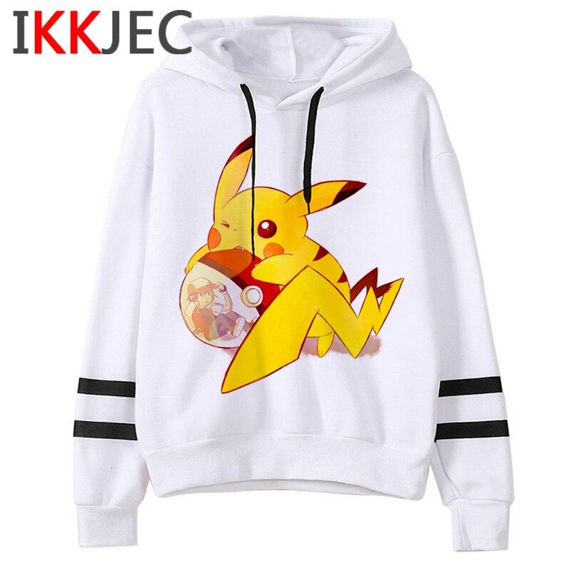 Pokemon Go Funny Cartoon Warm Hoodies Men/women Cute Pikachu Japanese Anime Sweatshirts Fashion 90s Steetwear Hoody Male/female 20