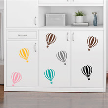 Colorful Hot Air Balloon Cloud Wall Stickers For Kids Rooms Bedroom Home Decor Living Room Decals Mural VA726BN 20*30cm