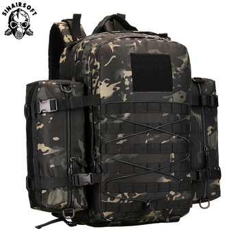45L Nylon Tactical Backpack Military Army Outdoor Rucksack Camping Tactical Backpack Hiking Sports Molle Pack Climbing Bag Bags 45l molle military tactical assault pack backpack army molle waterproof bug out bag small rucksack for outdoor hiking camping