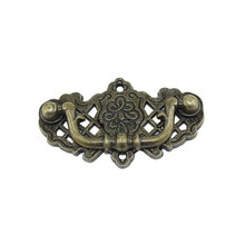 Knobs Furniture Flower-Handle Wooden Tone Bronze Vintage European 1PC Wine-Gift-Box Zinc-Alloy