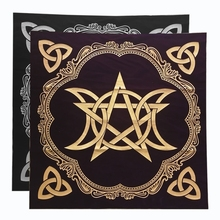 Triple Moon Pentacle Altar Cloth Divination Astrology Tarot Cards Game Tablecloth Velvet Board Game Pad High Quality and New