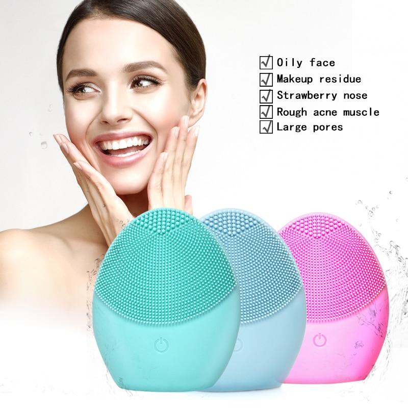 Silicone Facial Cleansing Brush Face Scrub Machine Exfoliating