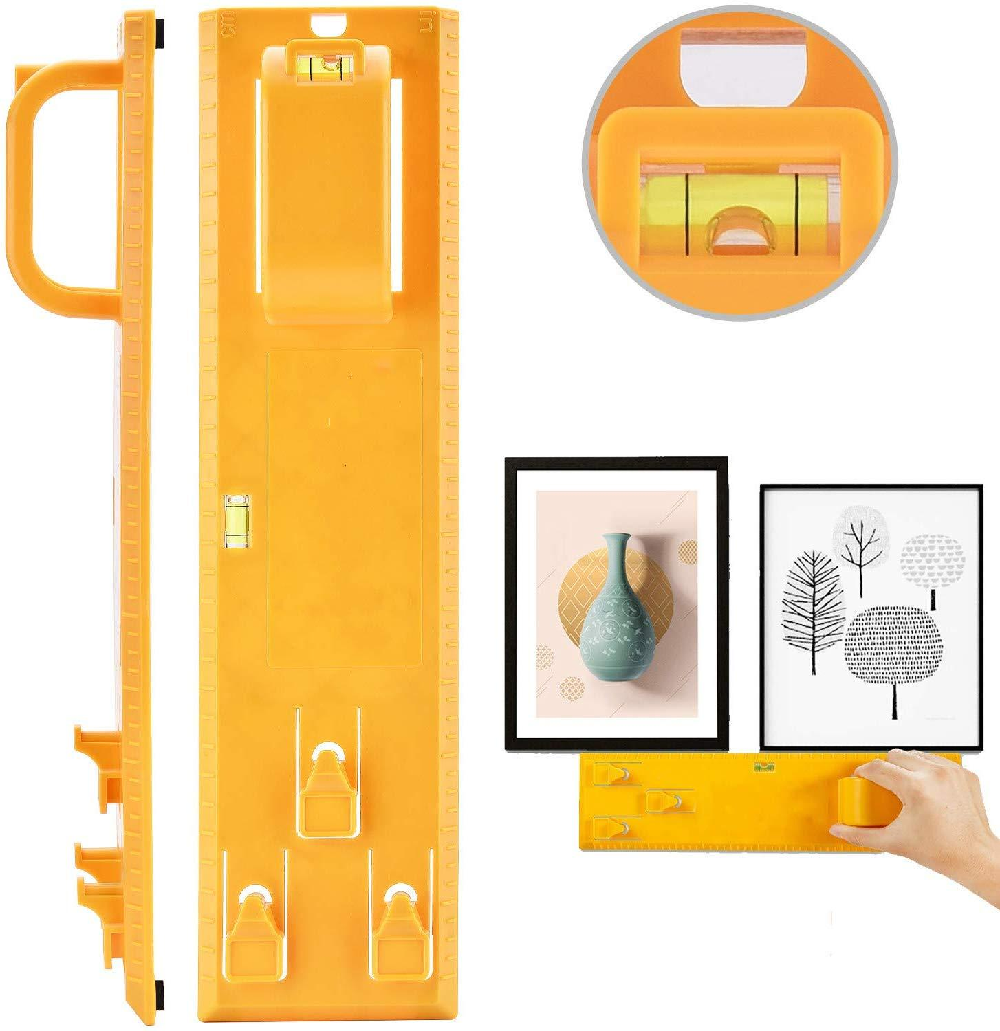 Picture Hanging Kit, Picture Frame Hanger Tool, Picture Hanger Tools With Level Suitable For All Wall Materials, Picture Frame R фото