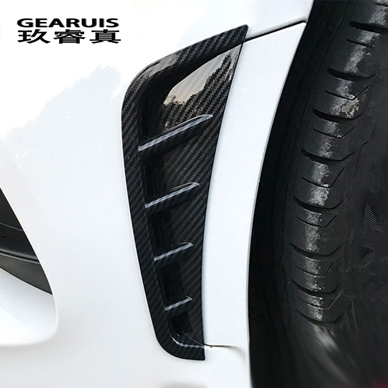 Car Styling Front <font><b>Bumper</b></font> Spoiler Air Knife Fog light Covers Stickers Trim for Mercedes <font><b>Benz</b></font> C Class <font><b>W205</b></font> 2020 Auto Accessories image