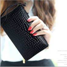 2019 High-grade stone pattern Tassel Wallet Women Long Cute Wallet Leather Tassel Women Wallets Zipper Portefeuille Female Purse