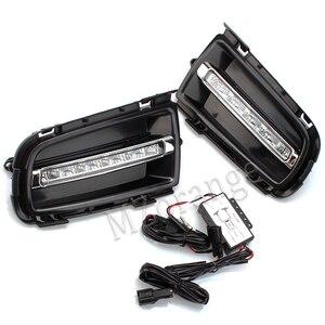 Противотуманный светильник s для Mazda 6 2006-2009 светодиодный DRL дневный ходовой светильник передние фары светильник s противотуманный светильни...