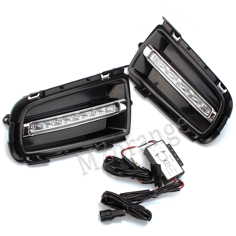fog <font><b>lights</b></font> for <font><b>Mazda</b></font> <font><b>6</b></font> 2006-2009 LED DRL Daytime Running <font><b>Light</b></font> headlight headlights fog <font><b>light</b></font> fog lamps cover day <font><b>light</b></font> foglight image