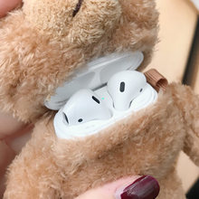 Fluffy Case For Airpods 2 1 Wireless Earphones Furry Cloth Knitted Plush Skin Covers For Air Pods Case For Winters(China)