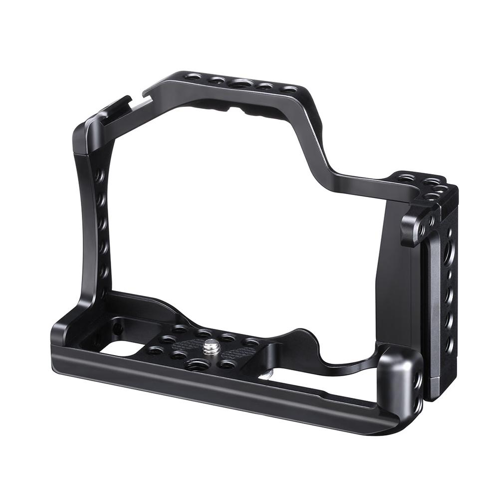 "DishyKooker Professional DSLR Camera Cage for Canon M50 M5 Arca Quick Release Cage for EOS M50 With Hot Shoe Arri Hole 1/4"" 3/8""