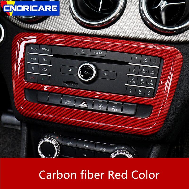 Автомобильная карбоновая цветная центральная консоль CD рамка декоративная накладка для Mercedes Benz A Class W176 GLA X156 CLA C117 2013-18