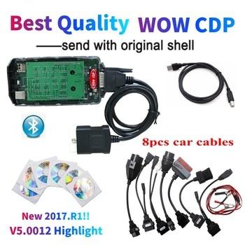 El mejor escáner de diagnóstico de coche WOW CDP Bluetooth V5.008 R2 Keygen Nuevo 2017.R1 coche/herramienta de diagnóstico de camiones nuevo VCI VD DS150E CDP bd2