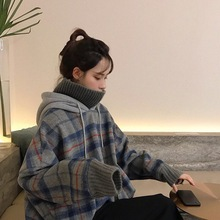 Autumn New Long Sleeve Hoodie Sweatshirt Women Korean Casual Fake Two Pieces Splicing Harajuku Sweatshirts Print Tops Pullover long sleeve two tone pullover hoodie