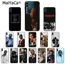 MaiYaCa rapero Pop humo suave de TPU de la caja del teléfono de silicona funda para iPhone 8 7 6 6S Plus 5 5S SE XR X XS X MAX Coque Shell