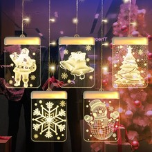 3D decorative lights room lantern string USB powered LED lights 1.5m 5Pcs window decoration lights home decoration lights