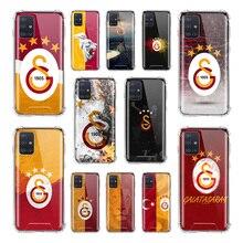 Turkey Galatasaray Case For Samsung Galaxy A51 A71 5G M31 A41 A31 A11 A01 M51 M21 Airbag Anti Fall TPU Phone Covers