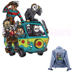 Massacre Machine Camp Patches for clothes Stripe for jacket Horror Killer Jason patch thermocollant Appliques on clothes