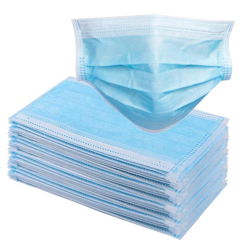 50 Pcs Mouth Mask Men Women Bacteria Proof Flu Face Masks Cotton Anti Dust Mouth Mask Windproof Antiviral Masks