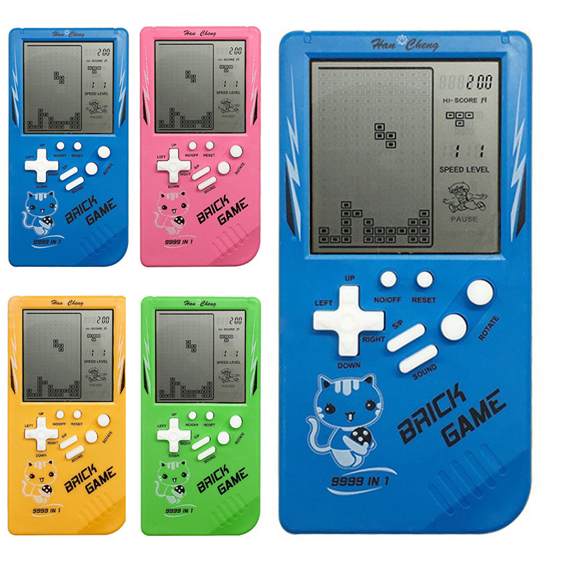Portable Game Console Tetris Handheld Game Players Mini Electronic Game Toys