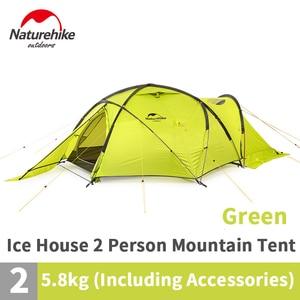Image 2 - Naturehike 2019 70D קרח אוהל 2 אדם שלג קמפינג אוהל אנטי סטרס מעובה רוח וקר עמיד אוהל מחוספס מהיר בניין