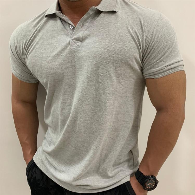 Polo manches courtes homme de marque, été 2019, noir, en coton, grande taille