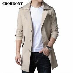 COODRONY брендовая мужская куртка высокого качества, деловой Повседневный Тренч, ветровка, Мужская одежда, 2020, осенне-зимнее классическое пальт...