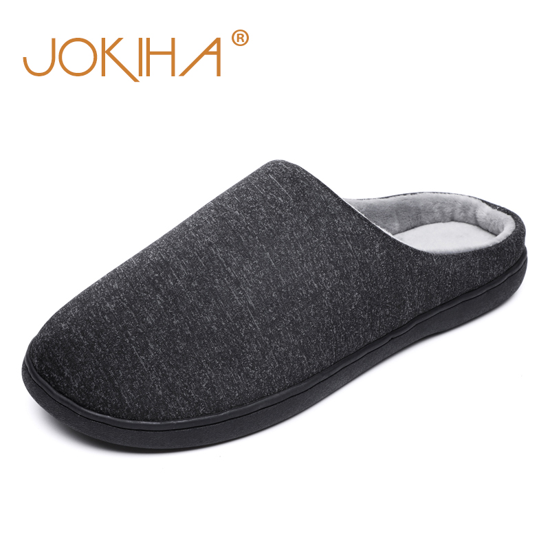 2019 Winter New Classic Indoor Slippers Man Flock Plush Warm Home Slipper Shoes For Men Simple Japanese Style Floor Shoes Slides