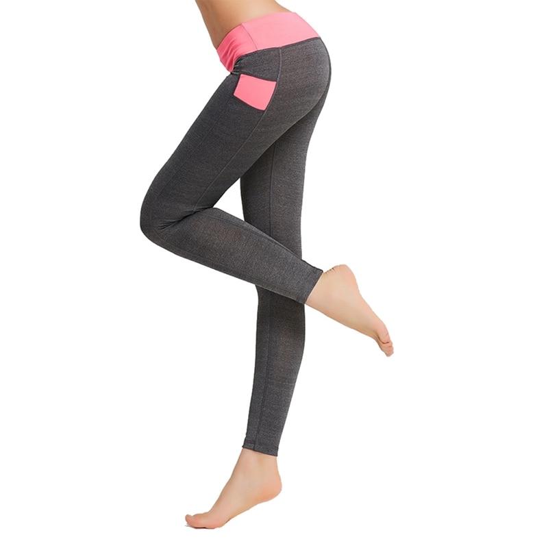Women Slim Fit 2019 Hot  Autumn Sports Leggings Color-Blocked Concise Quick Dry Leggings Fitness Solid Pants