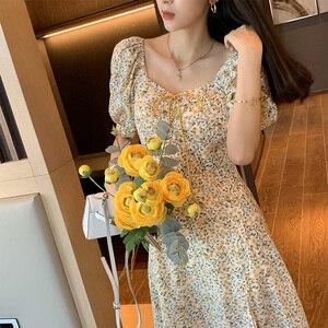 Image 3 - MISHOW 2020 yaz yeni elbiseler kadınlar Vintage A Line Retro Mini elbise kısa kollu Vestido kadın giyim MX20B1087