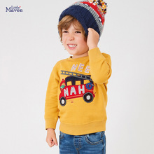 Sweater Toddler Baby-Boy Little-Maven Kids Cotton Yellow Thick Winter Casual Brand C0353