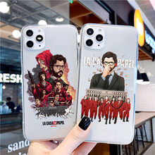 Spagna TV denaro Heist House custodia in TPU trasparente per iphone 11 Pro Max Cover per iphone X XS MAX XR 7 6S 8 Plus(China)