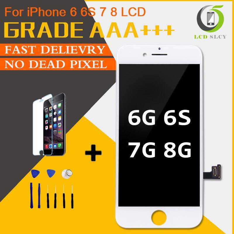 Perfekte Qualität AAA +++ Für iPhone 7 LCD 4,7 zoll Bildschirm Diaplay 100% Keine Tote Pixel Pantalla Für iPhone 6 6S 7 8 LCD mit Geschenke