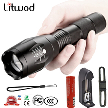 LED Flashlight 5 modes T6 L2 Aluminum Waterproof Zoomable To