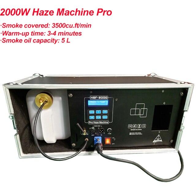 ارتفاع الناتج 2000 واط ماكينة اغبرار 3L خزان السائل آلة الضباب DMX512 ل ديسكو DJ حفلة المرحلة LED تأثير معدات الإضاءة