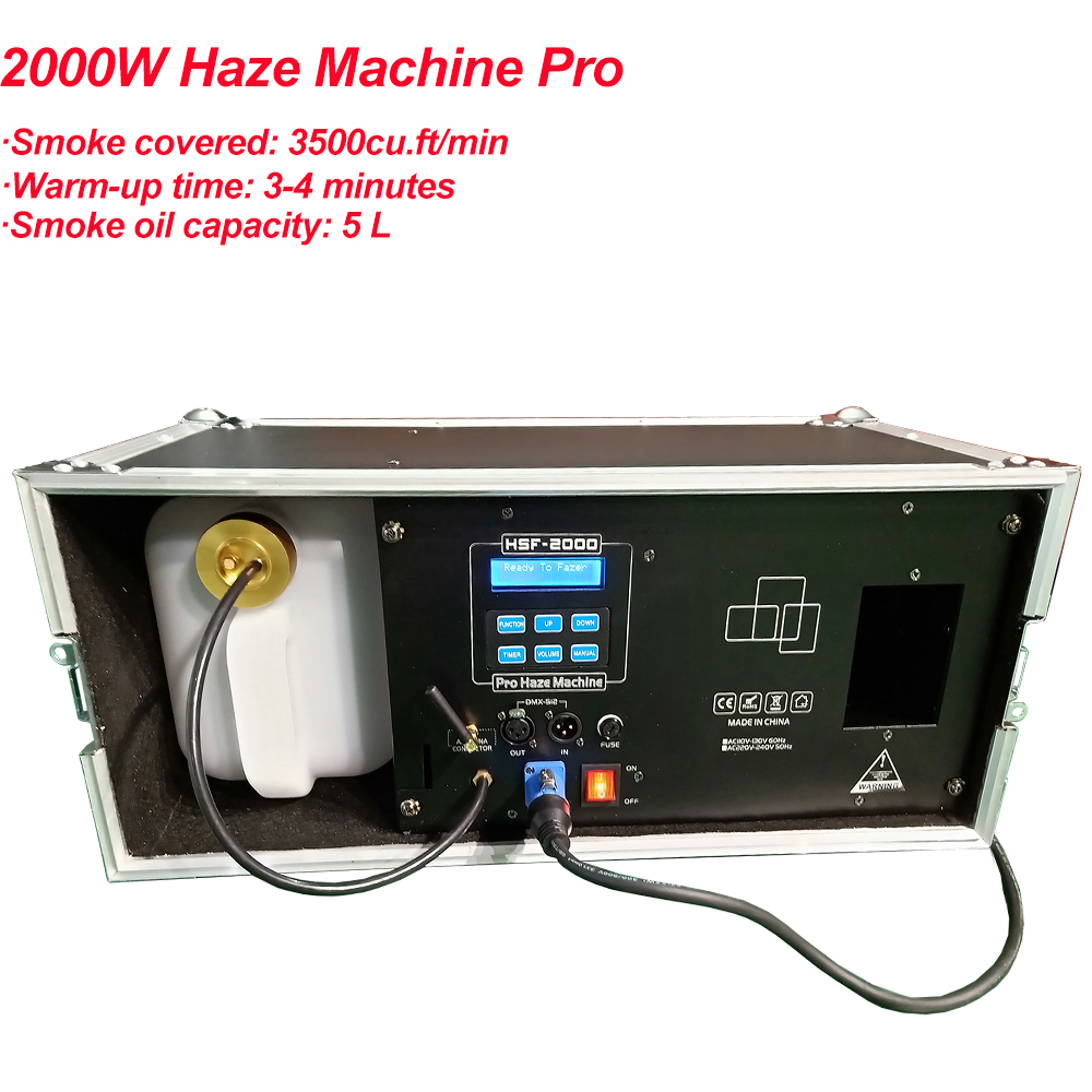 High Output 2000W Haze Machine 3L Liquid Tank Fog Machine DMX512 For Disco DJ Party Stage LED Effect Lighting Equipment-in Stage Lighting Effect from Lights & Lighting