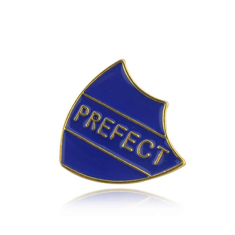 ZXMJ préfet lettres broche broche 4 couleurs pour femmes chemise vestes écharpe chapeau bijoux accessoires Badges carte militaire broches chaude
