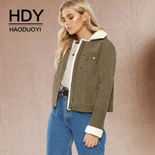 HDY Haoduoyi Autumn Winter Outwear Warm Thick Fur Lined Coat