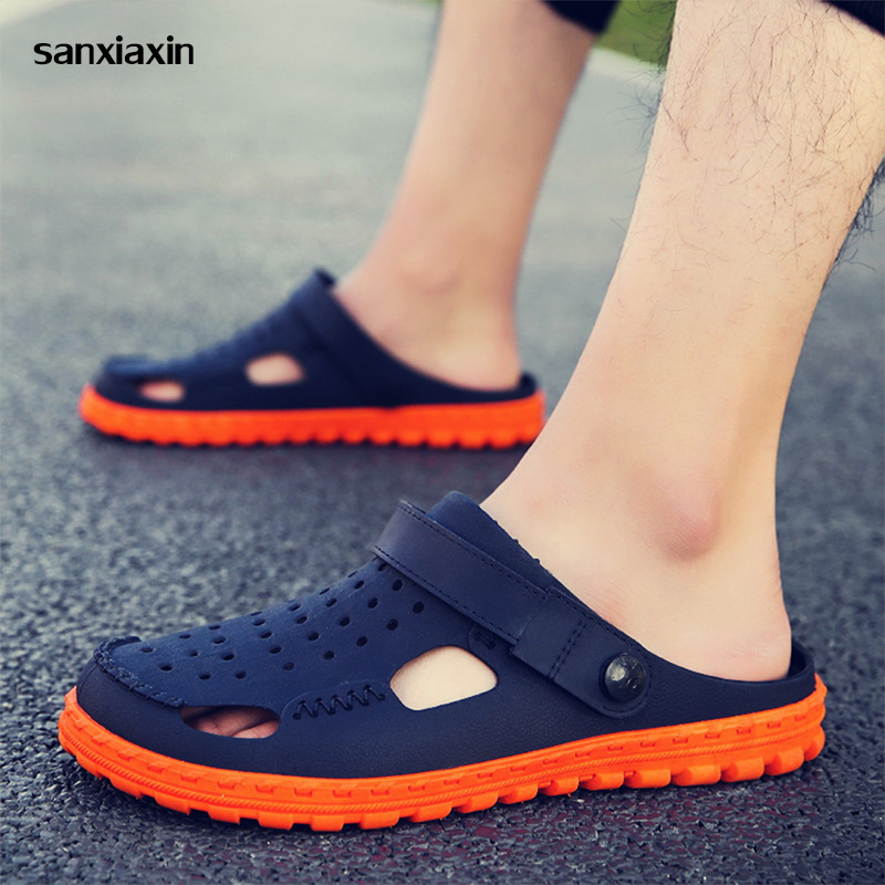 sanxiaxin new Medical Doctor Shoes Men's Hole Sandals and Slippers Surgical Lab Scrub Waterproof Non-slip Breathable Summer work