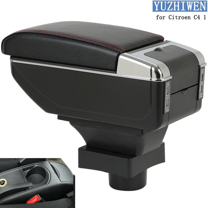 Для Citroen C4 подлокотник C4 1 Универсальный Автомобильный центральный подлокотник искусственная кожа коробка для хранения Подстаканник Пепел