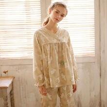 Пижама xifer женская из чистого хлопка на весну и осень брюки