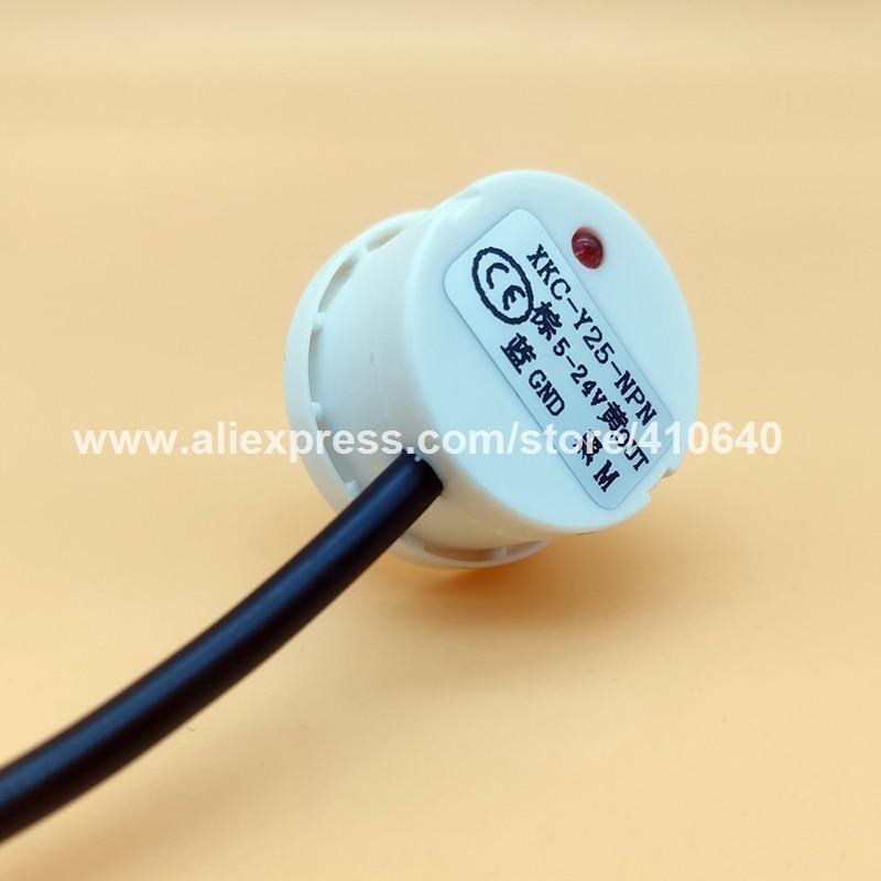 XKC-Y25-NPN Tipo aderente senza contatto Sensore di livello dell'acqua per serbatoio d'acqua Torre o tubo dell'acqua Installa facilmente segnale NPN da 5 a 24 V DC