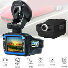 Car DVR Cyclic Recording 2-in-1 2 Inch HD 720P Car DVR Camera Radars Detector Video Recorder Dash Cam Russia Car anti radar