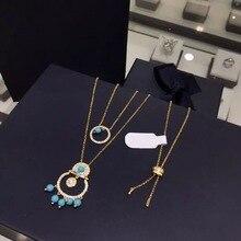 2020 nuovo arrivo Marocco verde collana di perle di cristallo di marca originale elegante delicata collana della ragazza delle donne